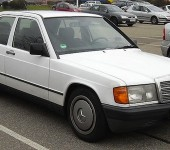 White-Mercedes-Benz-190