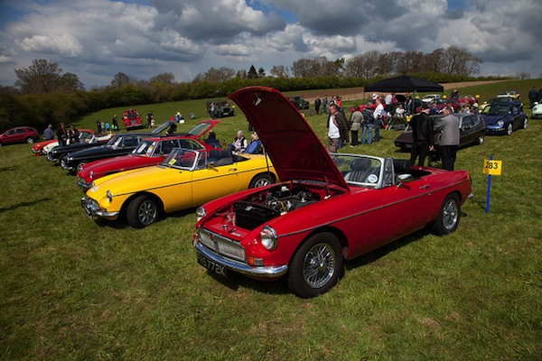 Numerous-Classic-MG-Cars-At-Classic-Car-Event